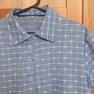 チャイナシャツ(シャツ/ブラウス(半袖/袖なし))