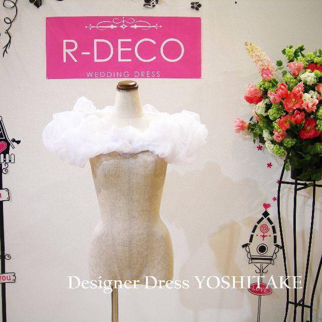 ウエディングドレス ショルダーパーツ レディースのフォーマル/ドレス(ウェディングドレス)の商品写真