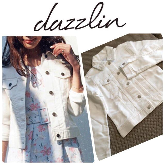 dazzlin(ダズリン)のダズリン デニムジャケット 白 レディースのジャケット/アウター(Gジャン/デニムジャケット)の商品写真