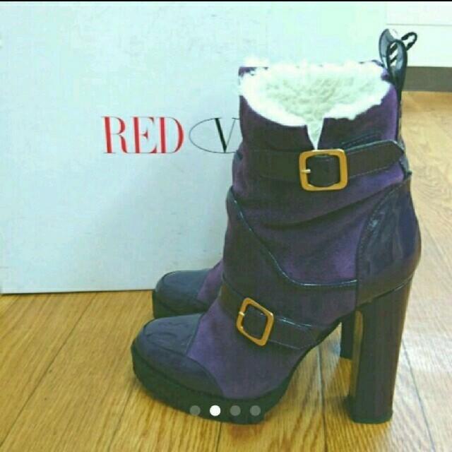 RED VALENTINO(レッドヴァレンティノ)の美品 レッドヴァレンチノ ムートンブーツ レディースの靴/シューズ(ブーツ)の商品写真