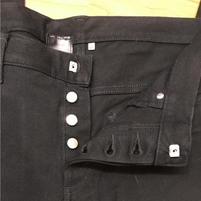 DIOR HOMME(ディオールオム)のディオールオム エディ期 ブラックストレッチパンツ メンズのパンツ(デニム/ジーンズ)の商品写真