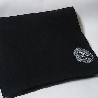 ドルチェアンドガッバーナ(DOLCE&GABBANA)の定4万限定希少!ドルガバD&G高級イタリア製羊毛大きなメンズマフラー黒灰(その他)