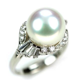 ミキモト(MIKIMOTO)のミキモトMIKIMOTO 定価100万以上 白蝶パールダイヤリング 11.3mm(リング(指輪))