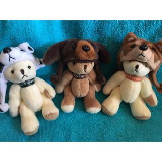 タリーズコーヒー(TULLY'S COFFEE)のタリーズ Tully's 福袋 ベアフル ミニテディベア 干支 犬 3種セット(ノベルティグッズ)