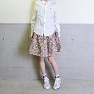 ルカ(LUCA)の新品 LADY LUCK LUCA ヒョウ柄ギャザースカート(ひざ丈スカート)