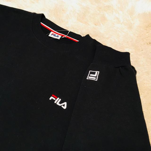 FILA(フィラ)の【ふぅ様用 ペア販売】FILA ブラック メンズ トレーナー メンズのトップス(スウェット)の商品写真