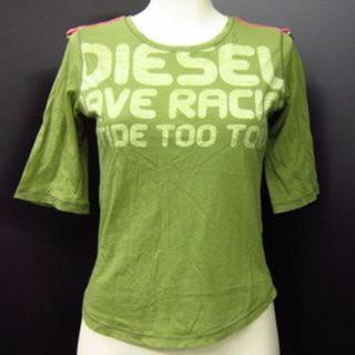 ディーゼル(DIESEL)のDIESEL★ディーゼル★カットソー★グリーン★かわいいTシャツ(Tシャツ(半袖/袖なし))