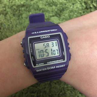 カシオ(CASIO)のCASIO W-215H-6A  チープカシオ 紫(腕時計(デジタル))