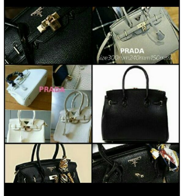 PRADA(プラダ)のPRADA秋冬ブラックレザーバッグ2wayショルダー付き新品 レディースのバッグ(ショルダーバッグ)の商品写真