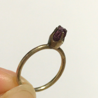 アッシュペーフランス(H.P.FRANCE)のH.P.France✴︎天然石ピンキーリング(リング(指輪))