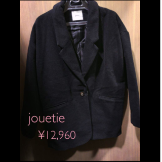 ジュエティ(jouetie)の新品♡1.2万 jouetie ウール ジャケット コート 上着(テーラードジャケット)