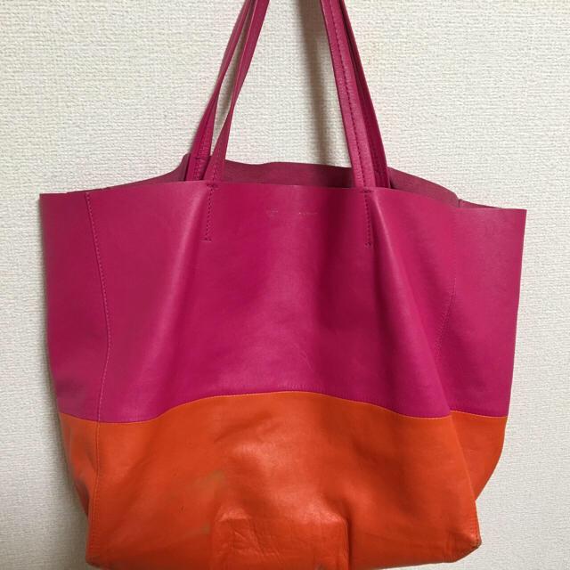 official photos 5217e 7da56 セリーヌ☆ カバ トートバッグ ピンク×オレンジ | フリマアプリ ラクマ