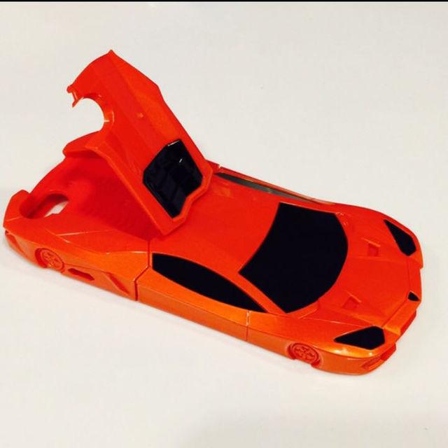 ランボルギーニ iPhone6 ケース カバー オレンジ メンズのファッション小物(その他)の商品写真