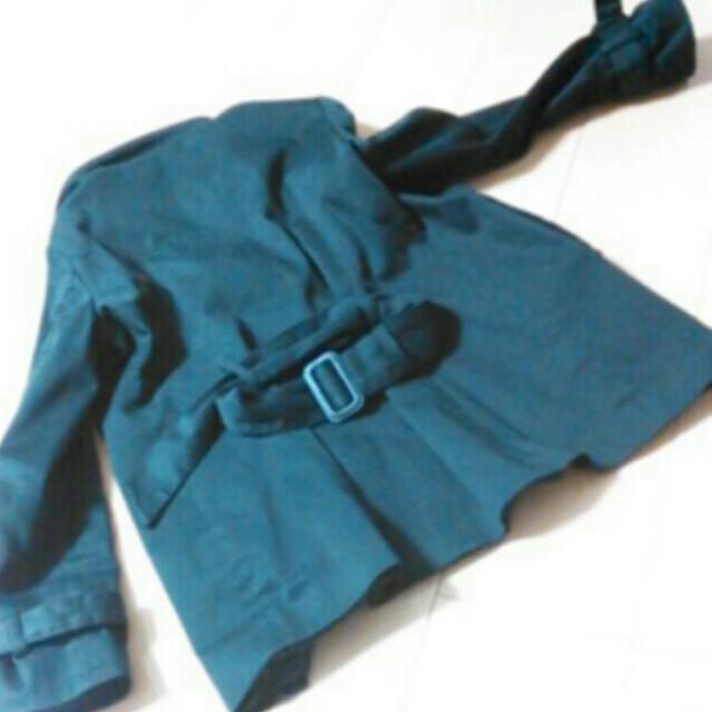 黒スプリングコート レディースのジャケット/アウター(トレンチコート)の商品写真