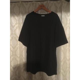 ジーユー(GU)のビッグシルエット tシャツ 黒(Tシャツ/カットソー(半袖/袖なし))