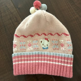 ファミリア(familiar)の美品♡ファミリア ニット帽  Sサイズ(帽子)