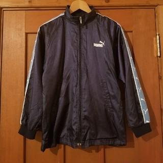 プーマ(PUMA)のプーマ150紺×水色バクプリ野球 サッカーベンチコート軽量ジャケット (ウェア)