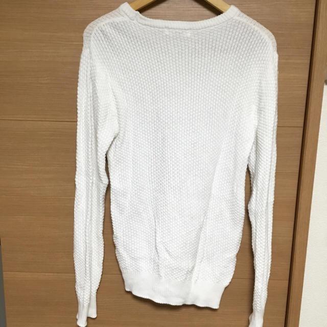 NAVAL 白ニット メンズのトップス(ニット/セーター)の商品写真