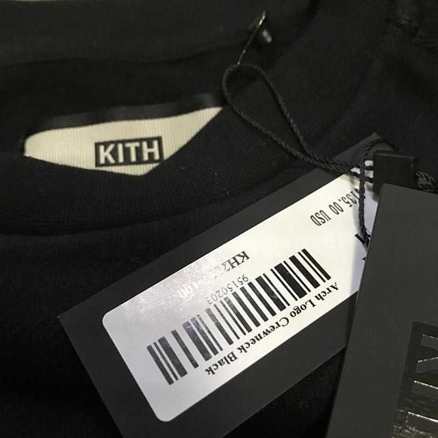 新品 KITH ARCH LOGO CREWNECK SWEATSHIRT 黒M メンズのトップス(スウェット)の商品写真
