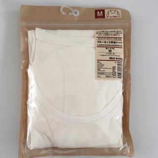 MUJI (無印良品) - 無印良品 Uネック 九分袖シャツ
