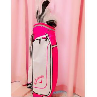 キャロウェイゴルフ(Callaway Golf)の【今日限定】キャロウェイゴルフセット新品ピンクレディースキャディーバックパター(クラブ)