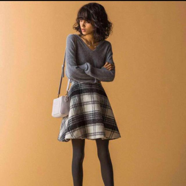 MERCURYDUO(マーキュリーデュオ)のチェックスカート 美品 グレー 安室奈美恵 rienda系 レディースのスカート(ミニスカート)の商品写真
