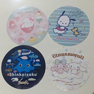 和菓子デザイン ポチャッコ シンカイゾク シナモン・ポロン ビックステッカー(キャラクターグッズ)