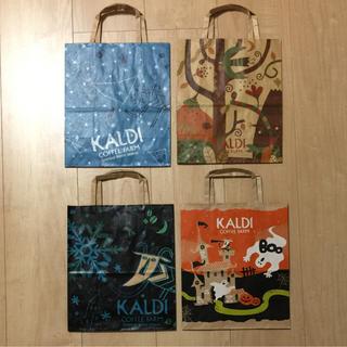 カルディ(KALDI)のKALDI ショップ袋 4枚セット(ショップ袋)