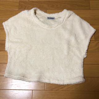 シマムラ(しまむら)の150サイズ 白  ボアフリース生地? セーター(Tシャツ/カットソー)