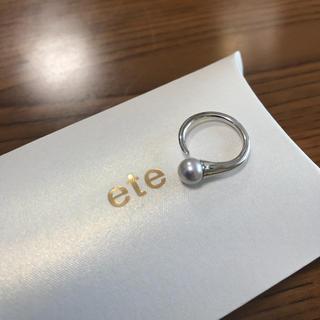 エテ(ete)のete 新品未使用 本パール K18 ピンキーリング(リング(指輪))