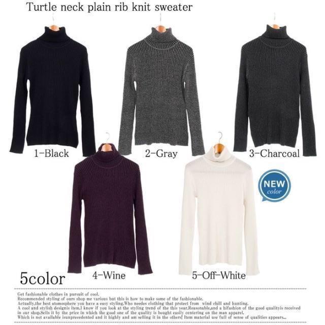 タートルネック 黒 メンズのトップス(ニット/セーター)の商品写真