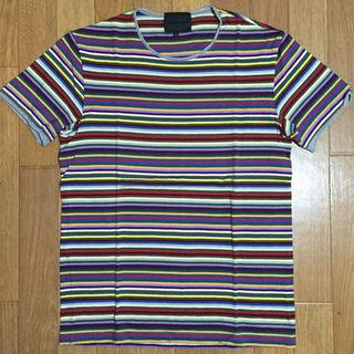 ノリコイケ(norikoike)のノリコイケ マルチボーダー柄クルーネックTシャツ(その他)