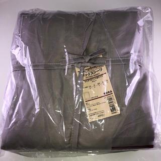 ムジルシリョウヒン(MUJI (無印良品))の無印良品 ボックスシーツ セミダブル グレー(シーツ/カバー)