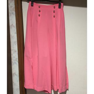 セシルマクビー(CECIL McBEE)のセシルマクビー ロングガウチョパンツ 福袋 綺麗目 ピンク(カジュアルパンツ)