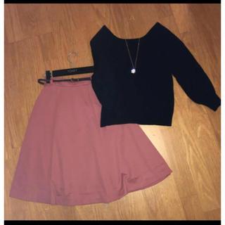 ハニーズ(HONEYS)のハニーズのスカートと黒ニットの2点セット ingni(セット/コーデ)