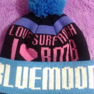 ブルームーンブルー(BLUE MOON BLUE)のブルムン、ニット帽!(ニット帽/ビーニー)