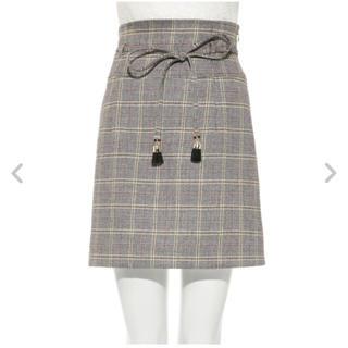 リリーブラウン(Lily Brown)のLily Brown チェック 台形スカート(その他)