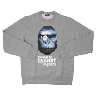 アベイシングエイプ(A BATHING APE)のBAPE 猿の惑星 スウェット グレー S(スウェット)