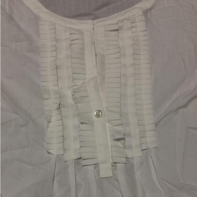 新品 未使用 タグなし ブラウス  チュニック 白 11号 レディースのトップス(シャツ/ブラウス(長袖/七分))の商品写真