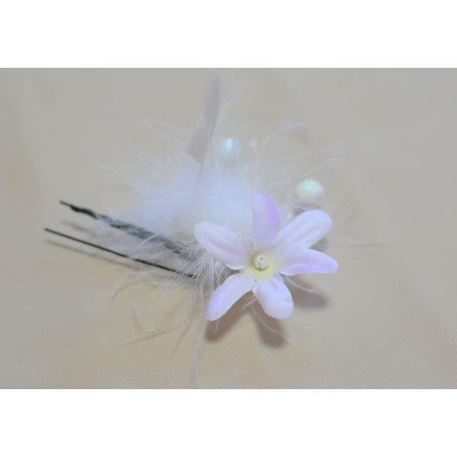 【新品、1点もの】 日本製 和柄の髪飾り ちりめん 4点セット 成人式に♪ レディースのヘアアクセサリー(その他)の商品写真