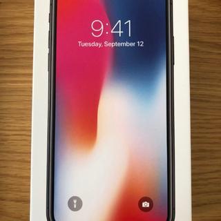 アップル(Apple)のiPhoneX 64GBスペースグレー SIMフリー化済 docomo(スマートフォン本体)