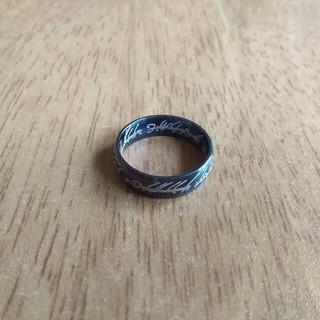 No. 316■値下げしました■新品■ステンレス鋼ブラックリング16号(リング(指輪))