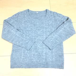 ムジルシリョウヒン(MUJI (無印良品))の無印☆グレーケーブル編みニット☆Mサイズ(ニット/セーター)