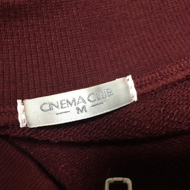 CINEMA CLUB(シネマクラブ)のCINEMA CLUBの厚地ブルゾンのワインレッド レディースのジャケット/アウター(ブルゾン)の商品写真