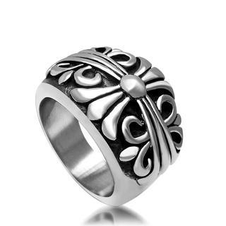 「高級品」重みあり、サージカルステンレスクロスキーパーリング(リング(指輪))