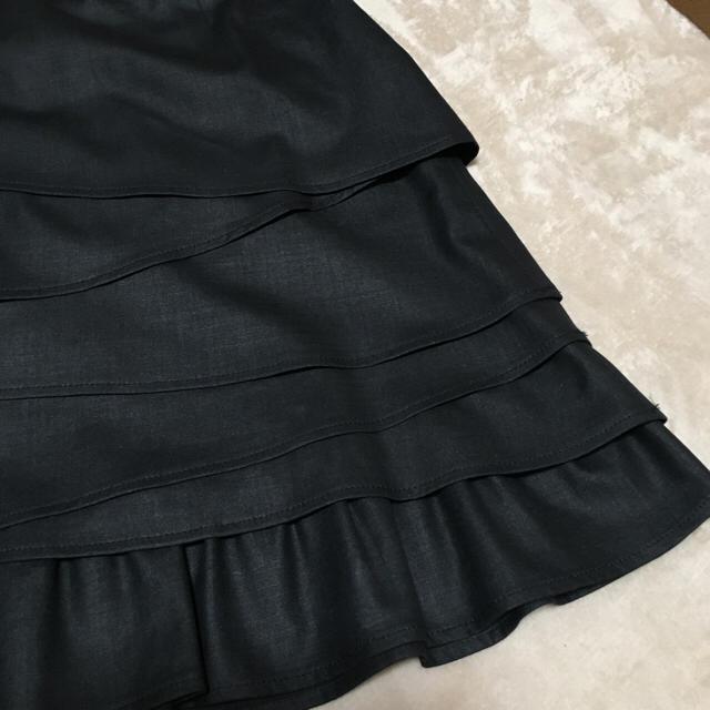 FILSAGE  ティアードスカート黒  サイズ38  卒業式  入学式   レディースのスカート(ひざ丈スカート)の商品写真
