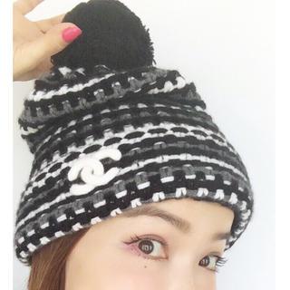 シャネル(CHANEL)のシャネル💓平子理沙愛用💖ニット帽子(ニット帽/ビーニー)