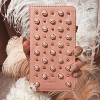 エイミーイストワール(eimy istoire)のレア♡即完売♡eimy♡パールスタッズ iPhoneケース手帳プラス♡スマホ(iPhoneケース)