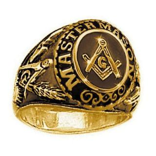フリーメイソン シンボルマーク ゴールド 22号 アンティーク調 リング 指輪(リング(指輪))