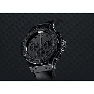 ウブロ(HUBLOT)のHUBLOT ビッグバン オールブラックシャイニー 希少(腕時計(アナログ))